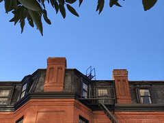 Mansard Roof Two Chimneys (bhchimneys) Tags: chimney dwelling structure brick building flue vent fire pipe stack sweep home residence roof tiles fireplace baltimore maryland services hearth repair howard county pointup firebox chimneyrepair stone cinderblock masonry fluetile chase historic preservation best bestofbaltimore masonryrepair repointing liner relining stainless steel aluminum terracotta clay bhc bhchimneys cleaning chimneysweep chimneycleaning inspection slate mansard
