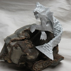 IOIO 2016 - Merlion 3 (Tankoda) Tags: septarian nodule ioio 2016 merlion andrey ermakov kraft 45 cm 20 hrs scales 400 origami 30