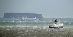 Rough seas in the English Channel off Dover during Storm Angus (Paul @ Doverpast.co.uk) Tags: rough seas english channel off dover during storm angus ferry ferries ship ships coast coastal routh weather dfds