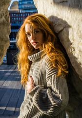 Portrait of Kristina ((Jessica)) Tags: portrait portraitmeet boston bostonportraitmeet redhead massachusetts newengland harbor harborwalk
