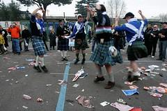 Dancing Kilties (see animation below) (FotoFling Scotland) Tags: rome kilt dance highlanddancing commando tartan supporters fans truescotsman