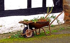Weed Barrow (wontolla1 (Septuagenarian)) Tags: bunbury beeston shropshire union canal post office box cheshire weeds wheel barrow wheelbarrow greatphotographers olympusmzuikodigitaled40150mmf4056