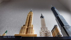My own skyline (sander_sloots) Tags: lego skyline new york city newyork skyscraper statue liberty vrijheidsbeeld wolkenkrabbers chrysler building flatiron oneworldtradecenter empire state