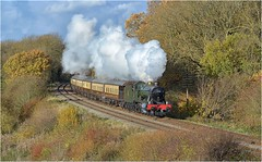 6990. Late Autumn steam ............. (Alan Burkwood) Tags: gcr kinchley lane gwr 6990 witherslackhall steam locomotive autumn colours