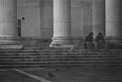 Plate (Lacrasse) Tags: church street venice chiesa san nicola talentino column black white nikon film stairs