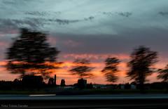 On my way home (2) (Tobias Dander) Tags: a13 highway netherlands car moving tobiasdander delft sunset twilight dusk sky