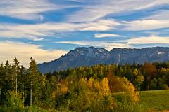 An autumn view to the Untersberg (echumachenco) Tags: sky cloud blue white fhn autumn autumncolours alps untersberg johannishgl piding berchtesgadenerland bavaria bayern germany deutschland nikond3100