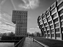 Almere city (puliMexNed) Tags: almere buildings blackwhite blancoynegro bnw streetphotographyblackandwhite streetphoto