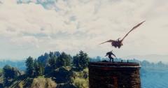 The Witcher 3 Super-Resolution (BrijrajRavalji) Tags: screenshot reshade witcher witcher3 wyvern lornruk lighthouse geralt monster sky trees