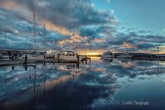 Reflections (l.gallier) Tags: docks desmoineswashington reflections desmoinesmarina boats sunset marina november2016 pugetsound pacificnw