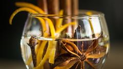 White Wine. (Sylvie.) Tags: white wine staranis orange glass clove dof depthoffield cinnamon sony ilce 6000 a6000 sonyilce6000 fe90mmf28macrogoss macro still life sylvie peeters
