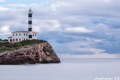 Faro Portocolom (jmrobles_13) Tags: faro portocolom mallorca mar nubes largaexposicion