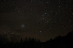 Sirius and Orion over the mountains (Loredana Jucan) Tags: sirius orion constellations canon astrophotography astrophotos astropic winterscape