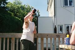 5 deep (Denzel De Ruysscher) Tags: film pentax 35mm crate day sun nature beer explore outside sky green vibes boy