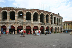 Verona Arena (Italy) (Angelina Moser) Tags: italy music building ancient opera theatre roman amphitheatre arena verona round romanamphitheatre veronaarena yahoo:yourpictures=mytravels