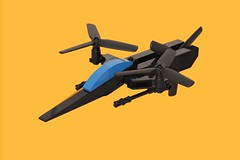 Anaconda Stealth VTOL (pasukaru76) Tags: black lego military stealth vtol moc canon100mm microscale