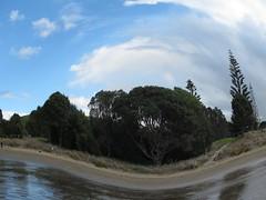 Long Bay Fisheye (SKR_Photography) Tags: winter newzealand beach fisheye auckland northshore sunnyday longbay longbaybeach favouritebeach