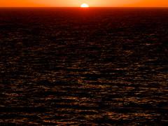 Force 5 (Lumase) Tags: sunset sea beauty landscape waves horizon warmth windy ripples rippled wavy sunspot ponza palmarola force5 sunstar bloodred beautyinnature