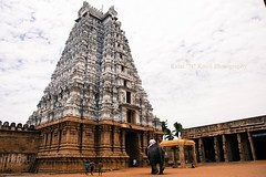 "Vellai (White) Gopuram Of Srirangam! (Kalai ""N"" Kovil (Lakshmi. R.K)) Tags: india architecture temple vishnu south ngc n tamilnadu 108 whitetow"