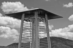 Visitors 1950's (brev99) Tags: blackandwhite monochrome metal clouds lakegeorge sagamorehotel photoshopelements9 tamron28300xrdiif