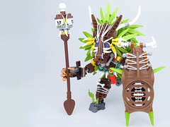 Tribull (Brickthing) Tags: lego magic tribal adventure jungle bone bionicle shaman rubberband tok duplo moc