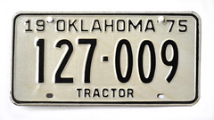 US license plate Oklahoma Tractor 127-009 (c) 2013Bernhard Egger :: ru-moto images 6856 (:: ru-moto images) Tags: photo foto fotos bild bilder pictures photography カメラマン kennzeichen nummertafel licenseplate us vehicle schild tafel nikkor nikon photographer supershot gallery galerie collection sammlung images photos photofiles eumotoimages fx leidenschaft passion фотограф fotográfico canvasprints posters kunstdruck gruskarte europe artist beauty beautiful gorgeous xxl poster print prints printed canvas quality tractor traktor oklahoma бернхардэггер фото rumoto австрия