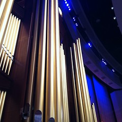 Never thought I'd get to be this close to the organ pipes at the Conference Center (brycemaccabe) Tags: boyscouts lds bsa conferencecenter ldsconf uploaded:by=instagram foursquare:venue=4b22fafff964a520805124e3 byudrumline