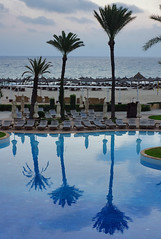 #tunisia #movenpick #тунис (Andrey Velichko) Tags: wood blue sea reflection water pool beautiful clouds palms mirror nice day tunisia tunis palm resort sousse susse море отражение тунис