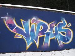 Virus graffiti, Trellick Tower (duncan) Tags: graffiti virus trellicktower