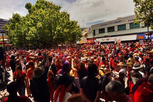 Red hot throng
