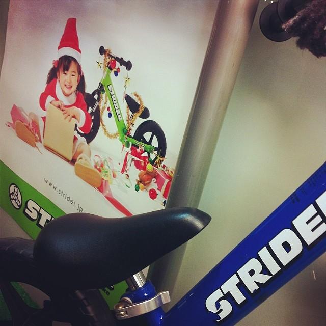STRIDER!クリスマスプレゼントにはもってこいですよ!試乗もしてますので下見にいらして下さい! #eirin #strider