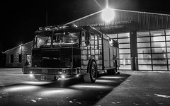 Looing Cool!! (VNR Photography) Tags: ontario canada night truck dark fire cool moody helmet firetruck late firemen firehall grandvalley canoneos5dmarkii andrevonnickisch