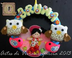 Porta Maternidade Bruna (Artes di Viviane Garcia) Tags: flores bird flor passarinho pssaro coruja menina floresta bruna corujas enfeitedeporta enfeitedematernidade bichinhosdafloresta meninafloresta