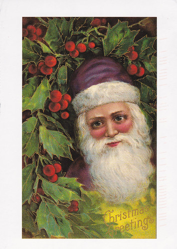 Vintage reprint Christmas postcard (USA)