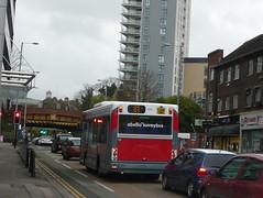 Unfinished 8002 (bobsmithgl100) Tags: bus woking pointer mini surrey dennis dart onk plaxton 8002 route81 victoriaway lj56 abelliosurrey lj56onk