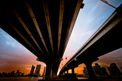 My Blinders (Thomas Hawk) Tags: bridge sunset usa bravo unitedstates florida fav50 miami unitedstatesofamerica fav10 fav25 macarthurcauseway fav100 miamidadecounty