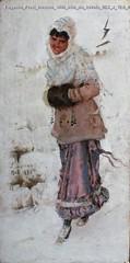 Eugenio Prati Inverno 1880 olio su tavola 25,3 x 12,5 cm