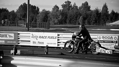 Waiting Here (4oClock) Tags: auto old bw usa white black west classic monochrome bike sport oregon speed america start honda wednesday portland mono blackwhite nikon waiting action traditional north motorcycles racing september motors motorbike international american ready pdx et drags leathers motorsport raceway pir nhra d90 2013 nwa13