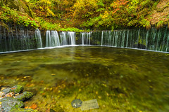 Shiraito-no-taki Falls... (A.K_Photography Hamburg) Tags: longexposure autumn mountains nature colors japan zeiss landscape waterfall nationalpark pond wasserfall hiking herbst hike autumncolors climbing highland waterfalls polarizer karuizawa nagano shiraitonotaki langzeitbelichtung shiraito polfilter wasserfälle shiraitofalls leefilters kitasakugun zf2 nikond700 distagont2821 präfekturnagano zeissdistagont2821zf2 karuizawaheights shiraitonotakifalls
