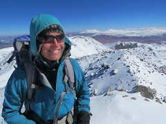 Big smiles on the summit of El Condor (6440m)