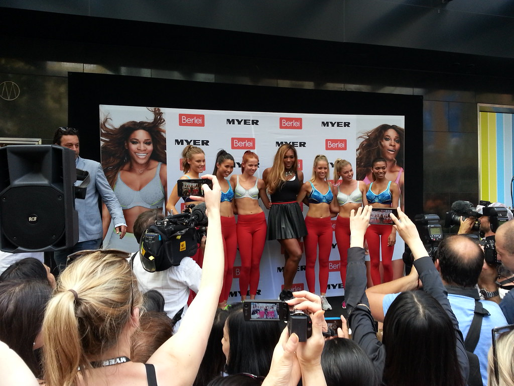 59812ff995164 Serena Williams promoting her new Berlei sports bra at Myer Bourke Street