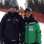 BC coaches diligently upholding current safety standards - Derek Trussler (Big White) and Nick Cooper (BC Ski Team) sporting helmets!