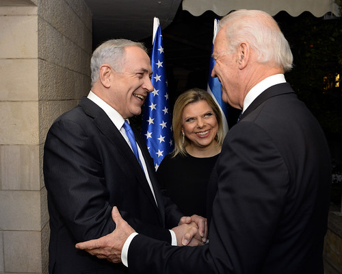 Biden is Greeted by Netanyahu