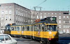 St. Muiderpoort (1974) (Amsterdam RAIL) Tags: amsterdam trolley tram 5g streetcar tramway strassenbahn electrico amsterdamoost tranvia gvb oost tramvia insulindeweg omleiding lijn9 17g stuurstromer 1g7g gvb668 toministraat