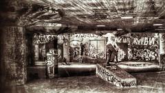 Skater at Southbank (scott1723) Tags: boy london one graffiti grunge x southbank skateboard skater htc snapseed