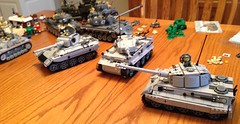 German King Tiger, Tiger, Panther Tank (jeffmcclain1) Tags: tank lego tiger german panther kingtiger