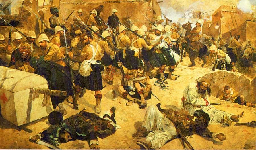 Боевые действия в Кандагаре, 1880. Картина Ричарда Кейтона Вудвилла