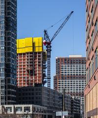 Yellow. (jbm0) Tags: usa yellow 50mm us construction jerseycity crane nj summilux summiluxm preasph 50mmsummiluxmpreasph
