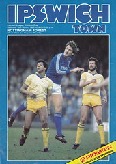 Ipswich Town vs Nottingham Forest - 1983 - Cover Page (The Sky Strikers) Tags: road nottingham forest town pioneer ipswich portman sponsorship