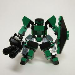Emerald Lions Dire Bear (Foghammer) Tags: mobile frame mecha hardsuit mfz